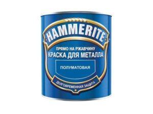 Краска дмет 3в1 Hammerite 0,75л. полуматовая белая