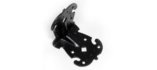 Крепежный уголок фигуный 70 70 60 (Чёрный)