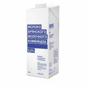 Молоко Брянский Молочный Комбинат ультрапастеризованное 3.2%