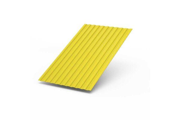 Профилированный лист С-8 х 1150 (ПЭ-01-9003-0,45) желтый