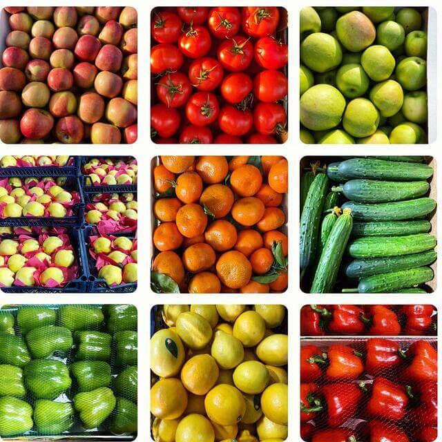 свежие овощи и фрукты в Марке