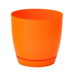 Горшок пластик Тоскана с поддоном кругл 3 л оранж