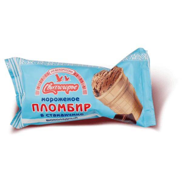 Мороженое Пломбир шок в ваф. стакан Свитлогорье 105 гр