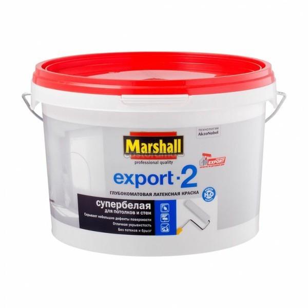 Краска Marshall Export-2 дстен и потолков BW 2,5л глубокоматовая