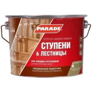 Лак для ступеней лестниц PARADE L15 Глянцев. 2,5 л. Россия