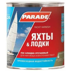 Лак яхтный РARADE L20 Глянцев. 0,75 л Россия